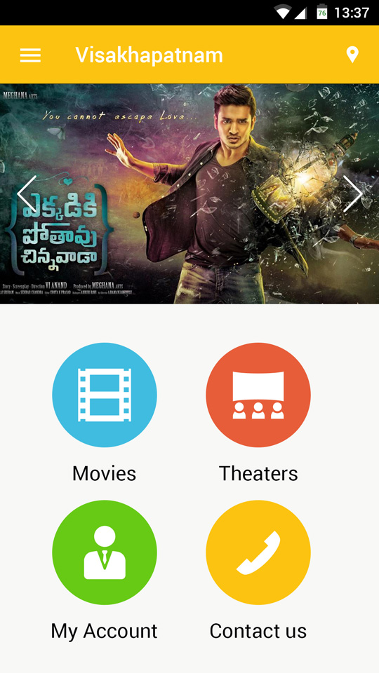 movie booking app design