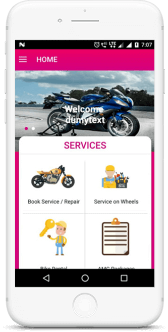Bike Rental Services App Development