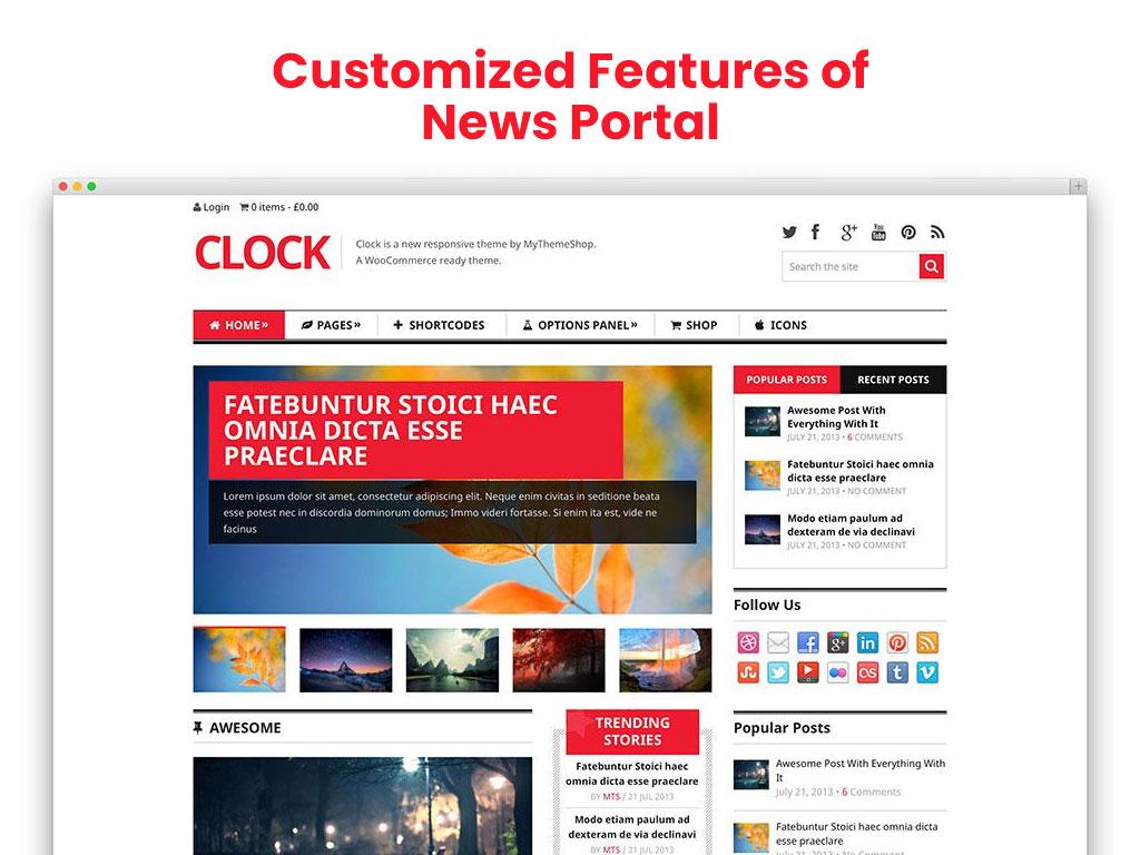 news portal app development Features