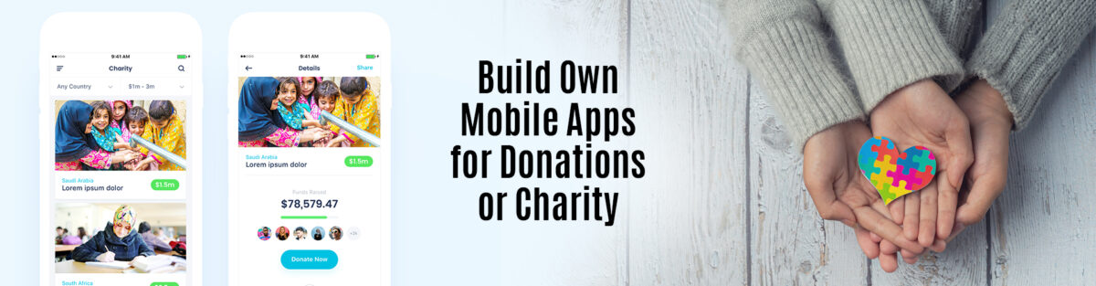 charity app development company